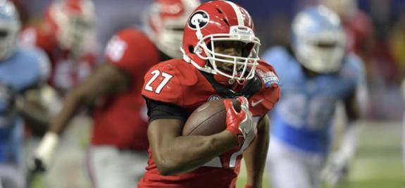 Nick Chubb Georgia RB NCAA Football