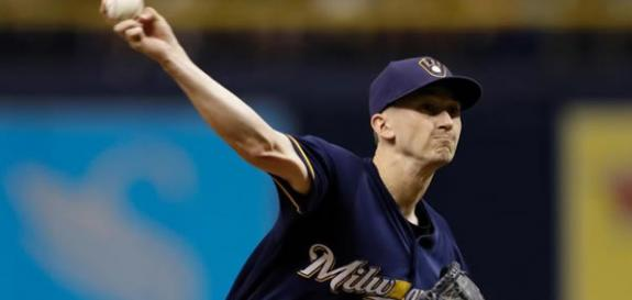 Milwaukee pitcher Davies gets the start vs. the Dodgers tonight